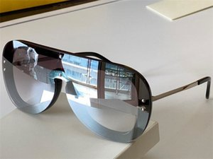 0396 New Fashion Sunglasses With UV Protection for Women Vintage Oval One lens Metal Invisible frame popular Top Quality Come With Case