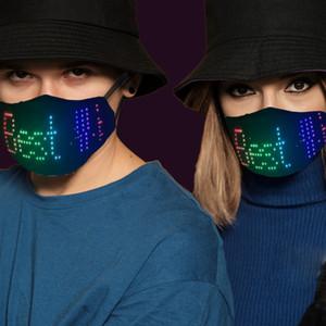 Bluetooth Programmabile RGB o Maschera viso luminosa a LED a 7 colori, maschera di carnevale, festa, Natale, regalo di Halloween o modulo LED opzionale