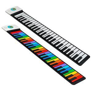 49 Keys Digital Keyboard Flexible Roll Up Piano Loud Speaker Electronic Hand Roll Piano Keyboard Instrument Gift for Music Lover