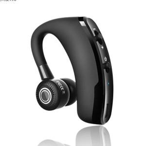100pcs 2021 V9 Earphones Bluetooth Headphones Handsfree Wireless Headset Business Drive Call Sports For Iphone Samsung