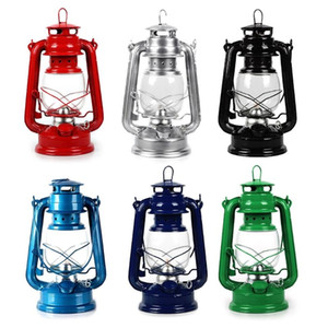Lámpara de keroseno clásico retro Linternas regulables Mecha decoración de luz de campamento portátil