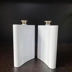Blank Sublimation Flask Hip Flask Stainless Steel Water Bottle Double Wall Diy Lover Outdoor Tumblers Drinkware 8oz Sea Shipping YYS2760