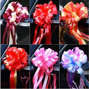 Pull Bow Brok Nuziale Car Colorato Flower Ball Ball Decorazione nastri nuovi prodotti con vari pattern YHM942