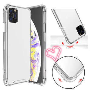 Transparent Shockproof Acrylic Hybrid Armor Hard Case for iPhone 12 11 Pro XS Max XR 8 7 6 Plus Samsung S20 Note20 Ultra Drop shipping