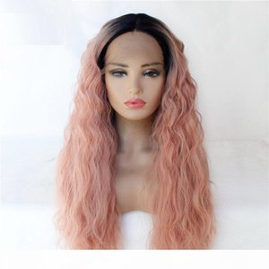 Ombre Color Synthetic Remy Hair Lace Front Wig HD Transparent Lace Frontal Simulation Human Hair Wigs 181011-1B-T1532