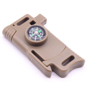 1pcs side release whistle compass buckle scraper parachute 550 rope umbrella rope bracelet outdoor camp backpack survival kit