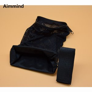 Acessórios ar tático munição latão shell catcher zippered fechamento rápido descarregar nylon malha preto livre sh