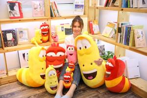 Korean Anime Fun Insect Slug Creative Larva Plush Toys Cute Stuffed Worm Dolls for Children Birthday Gift Hobbies