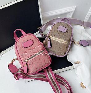 Ins Miúdos carta impresso mochila crianças designer casual saco mulheres faixa cinta mini mochilas de telefone cortar meninos causam sacos