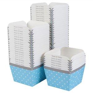 Disposable Cups & Straws 100pcs Paper Cupcake Square Cake Cup Heat-resistant Dessert Bowls Mini Box Party Supplies