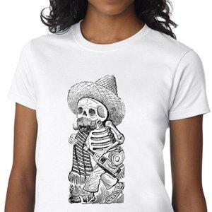탑 재미 좀비 얼굴 그래픽 티셔츠 티셔츠 몬스터 인쇄 Tshirt goth 두개골 티셔츠 여성 그런 지 미학 의류 streetwear C0305