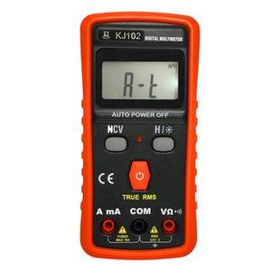 Multimeters KJ102 1999 Counts Digital Multimeter Auto Range True RMS AC DC Volt Amp Ohm Resistance Continuity NCV Tester Data Hold