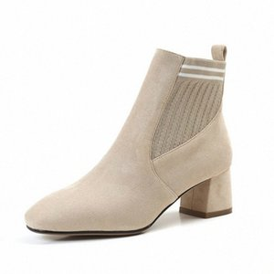 Black Beige Sock Boots Stretch Boots High Heels For Women Fashion Shoes 2019 Spring Autumn Ankle Booties Female w7z7#