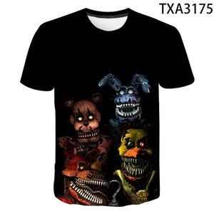 2020 New Fnaf Summer 3D T shirt Men Women Children Casual Fashion Streetwear Boy Girl Kids Printed T-shirt Tops Cool Tee L0223