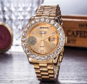 Dropshipping Rose Gold Stainless Steel Bracelet Watch Women Men Fashion Womens Quartz Watches Hip Hop Big Diamonds Ladies Clock