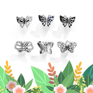 NEW Exquisite Butterfly 925 Sterling Silver Dream Charms Spacer Beads Fit Original European charm Bracelet Jewelry making