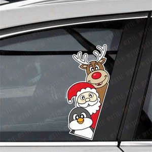 2021 Christmas Cute Cartoon Window Sticker Fashion Children's Santa Elk Car Glass Decoration Paster 20*15cm Xams Fridge Stickers Tags G97T9U2