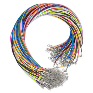 1.5mm Cotton Waxed Cord Braided Rope String Chain Necklace with Lobster Clasp DIY Jewelry Making Findings