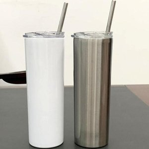 Lowest Price 20oz tapered and straight sublimation skinny tumbler 20 oz stainless steel blank tall cylinder water bottle sea ship