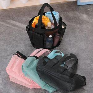 Mesh Net Shoes Bag 8 Side Pockets Handbag Mesh Beach Swim Bathroom Gym Totes Organizer Storage Laundry Makeup Cosmetic Washing Bag gG32QHHJ
