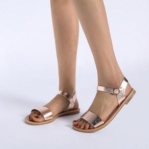 Садья сандалии Sagace сплошные цвета PU кожаные сандалии женщины мода стиль плоские летние женские туфли обувь 2019 41018 z4yk #