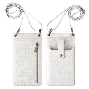 Card Holders Fashion Phone Bag Alligator Pattern PU Leather Pure Color Corssbody Shoulder Bags Women Vintage Mini Coin Purse Handbags