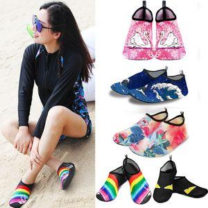 2021 hombres Playa Calcetines a rayas Mujeres Niño Natación Agua Deporte Barefoot Sneaker Gimnasio Yoga Fitness Danza Nadar Surfing Buceo Snorkel Shoes