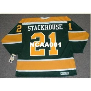 668 # 21 RON Stackhouse California Golden Seals 1970 CCM Vintage Retro Hockey Jersey или пользовательское имя или номер ретро Джерси