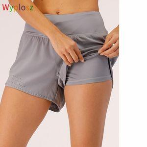 Wyplosz Hight Hight Tights Короткие карманные карманные днюковицы Yoga Тренажерный зал Леггинсы Поступая спортивные спортивные шорты для спортзала Skims Женщины Дамы