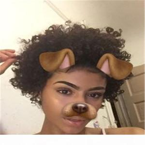 Kurze kinky lockige Perücke echtes menschliches haar afro lockige Perücken schwarze Farbe Natürlich auf der Suche nach Frauen