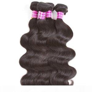 Vente en gros Vierge Brésilienne Human Hair Weave Corps Tissera 4 Bundles avec fermeture en dentelle oreille frontale à l'oreille extension des cheveux Wefts