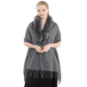 Шарфы мода Wome из искусственных меховых шалей осень зима кашемировая длинная свадьба и вечеринка вечернее платье Pashminas