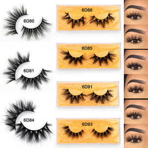 Makeup Eyelashes 3D Mink Lashes Fluffy Soft Wispy Volume Natural long Cross False Eyelashes Eye Lashes Reusable Eyelash