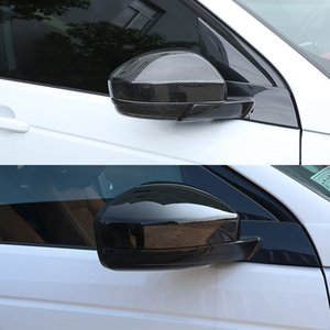 2Pcs Car Look Carbon Fiber Rearview Rear View Mirror Cover For Land Rover Discovery Sport Range Rover Velar Evoque Jaguar F-Pace