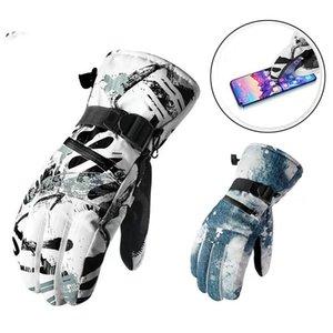 -30 камуфляж мужская снежные перчатки зима открытый спортивный варежки водонепроницаемый ветрозащитный велосипедные горы сноубординг снаряжение лыжные наряды 249 х2