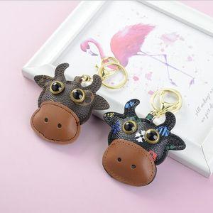 Großhandel Cate Cow Designer Schlüssel Schnalle Tasche Auto Keychain Handgemachte Ledertiere Schlüsselanhänger Mann Frau Geldbörse Tasche Anhänger Zubehör Geschenke
