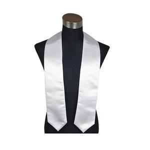 성인 승화 열 인쇄 빈 졸업 스카프 열전달 화이트 명예 숄 에스켓 리본 학사 학사의 목도리 여성 H31EBTC