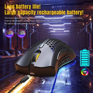 Mice D2 2.4GHz Wireless Gaming Mouse Hollow Optical PC Rechargeable RGB Backlit For Household Computer Accessories