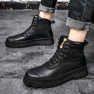 남성 신발을위한 2020 남자 부츠 모피 따뜻한 발목 부츠 성인 motocycle 눈 겨울 신발 남자 큰 크기 47 s3xl #