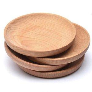Круглая деревянная тарелка блюдо десертное печенье тарелка блюдо фрукты блюдо блюдо чайный серверный поднос древесины чашка чашка чаша катушка посуда коврик fwf5458