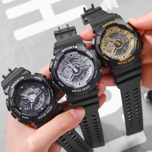 Hot Sale Outdoor Multi-function Lovers Girl Student Sports Fashion Waterproof Alarm Clock Double Display Electronic Watch
