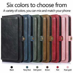 Magnetic 2 in 1 Magnet Detachable Removable Wallet Leather case For iphone 12 11 Pro Max XS XSMax XR X 6 7 8 Plus S20 FE Cover
