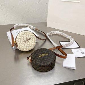 2021 Выход Baobao Женская 2021 ARC DE TRIOMPHE Небольшая круглая сумка Вышитый холст Паркетные сумки для хранения