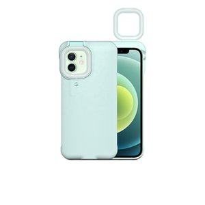 Apply to iPhone 12 xr Pro 11 Phone Cases Selfie Beauty Ring Light Flash Capa Stable Shell Help better discharge photos