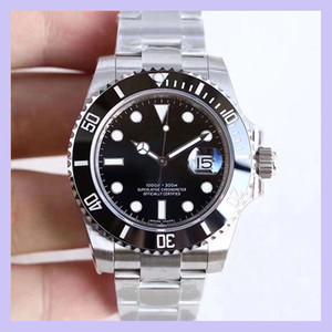U1 Fábrica ST9 Cerámica Bisel Black Sapphire Fecha de acero inoxidable 40mm Mecánico automático Menores de acero inoxidable Hombres 116610 Relojes de pulsera