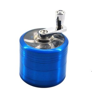 tobacco grinder 50mm 4layers Zicn alloy hand crank tobacco grinders metal grinders for herbs herbal grinders for tobacco Towel HWA3703