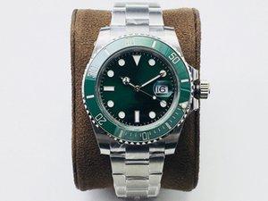 N fábrica116610 v10 relógio masculino 40mm de tamanho com 2836-3135 movimento opcional 904L fina cinta de aço safira espelho de vidro de cristal profundidade impermeável