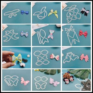 Painting Supplies Bowknot Dies Metal Cutting Scrapbooking For Card Making DIY Embossing Cuts Craft Pattern Po Frame Cover