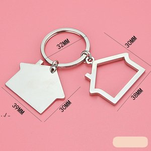Creative House Shaped Keychains Metal Keyrings house Design car Key Chain Key Fashion Accesories Pendant Key Holder DWD10955