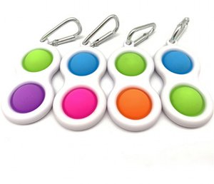 Stress Ball Push Bubble Keychain Kids Adult Novel Fidget Simple Dimple Toy Pop It Fidget Toys Key Holder Rings Bag Pendant